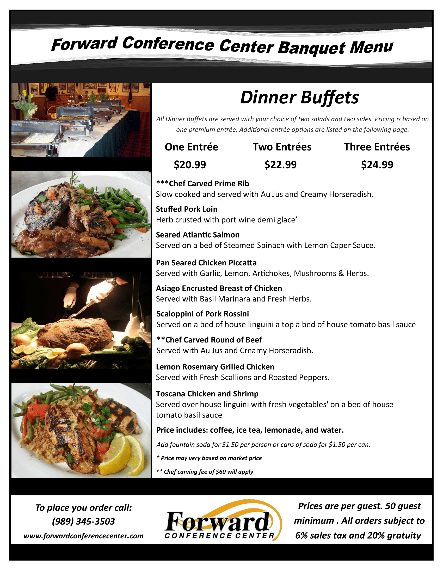 Full Banquet Menu - #8