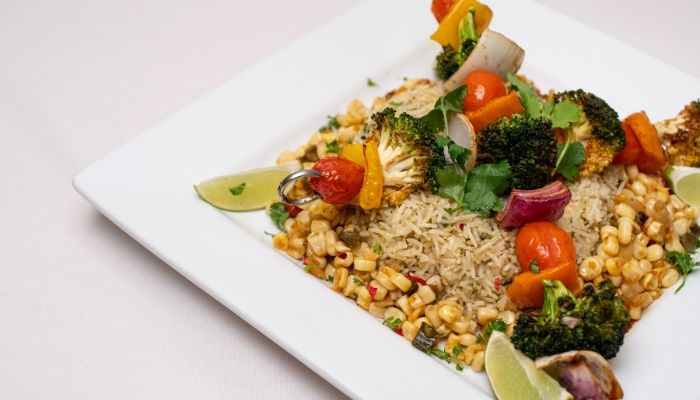Rice and Vegetable Plate Catered